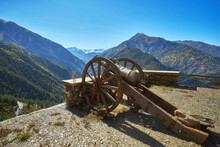 Old Iron Canon In The Mountains Of Dagestan, Russia