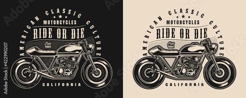 Classic motorcycle vintage badge