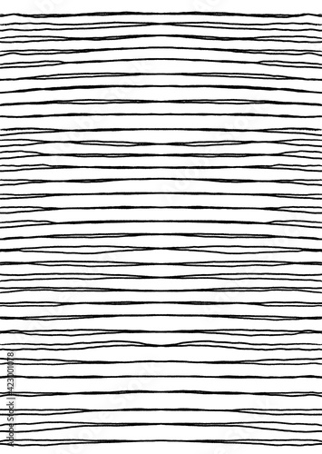 Fototapeta Hand drawn abstract pattern with hand drawn lines, strokes. Set of vector grunge brushes. wavy striped, Vector EPS 10 illustration obraz