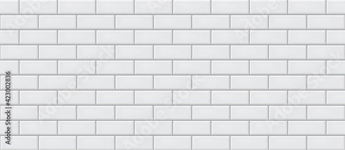 Fotografia White ceramic tiles texture abstract background vector