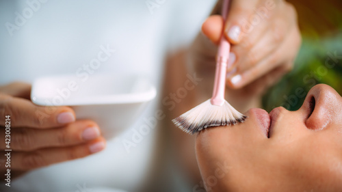Chemical Peel Face Treatment with Retinol Serum.