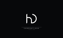 HD H AND D Abstract Initial Monogram Letter Alphabet Logo Design
