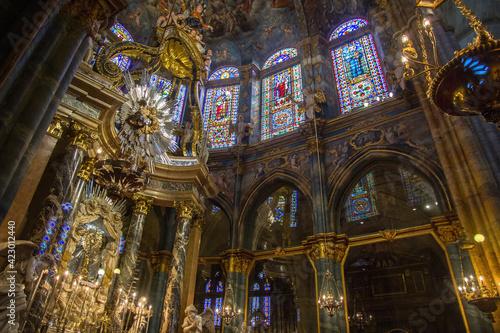 Interior of the Cathedral de Lugo in Galicia Spain Fotobehang