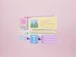 Web development and web UI-UX design concept. Web building and SEO optimization marketing. 3d rendering.
