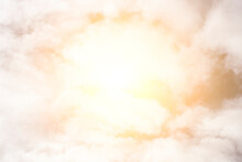 Sky With Clouds And Bright Sun. Bright Consecration