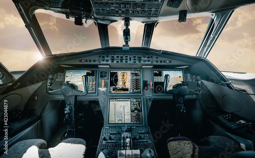 Fotografering Dassault Falcon Cockpit