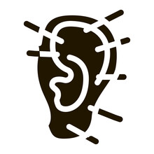 Ear Acupuncture Icon Vector Glyph Illustration
