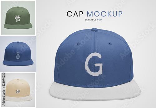 Obraz Cute Cap Mockup Design - fototapety do salonu