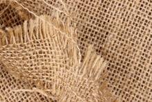 Close-up Of A Burlap Sack Background