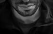 Black and white caucasian male face