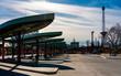 canvas print picture - der sanierte Busbahnhof am Funkturm in Berlin