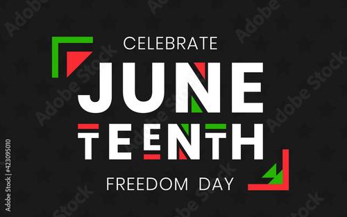 Papel de parede Juneteenth Freedom Day banner
