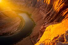 Horseshoe Bend, Page, Arizona. Horse Shoe Bend On Colorado River, Grand Canyon.