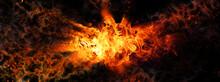 抽象的な火が爆発する