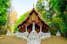 Lanna Style Church Of Wat Luang Khun Win In Chiangmai Province