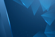 Abstract Blue Background Design With Geometric Shape And Futuristic Style Use For Print Cover And Banner
