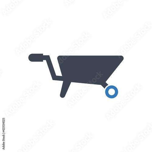 Photo Barrow cart icon