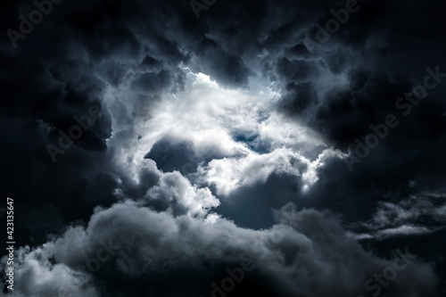 Fotografie, Tablou Dark Storm Clouds