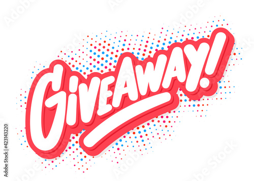 Tablou Canvas Giveaway. Vector handwritten lettering banner.