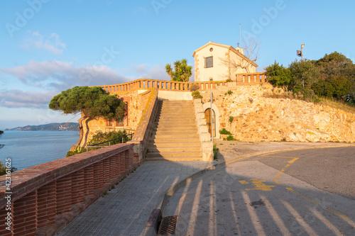 Canvas Hermitage Sant Elm in Sant Feliu de Guixols, Costa Brava Spain