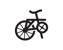 Bicycle Logo Template Suitable For Businesses And Product Names. This Stylish Logo Design Could Be Used For Different Purposes For A Company, Product, Service Or For All Your Ideas.