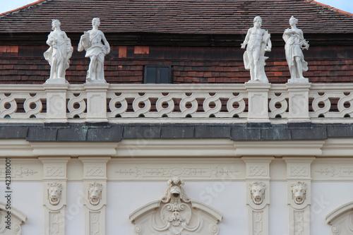 Obraz na plátne allegoric or mythologic statue at the lower belvedere in vienna (austria)