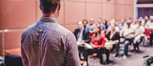 Fotografie, Obraz Speaker Giving a Talk at Business Conference and Presentation.