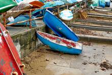 At The Junkyard Of Old Boats