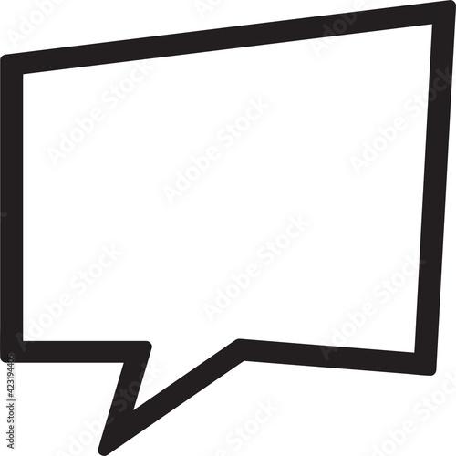 Fotografija Blank speech bubble sign design