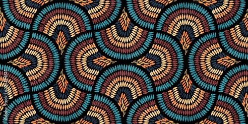 Leinwand Poster Seamless wavy pattern