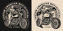 Custom Motorcycle Vintage Print