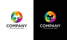 Circle Three Abstract People Diversity Logo Vector, Team Of Three People Logo. Concept Of People Group Meeting Collaboration And Great Work.