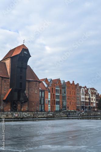 Fototapeta Gdańsk żuraw i kamienice nad Motławą obraz
