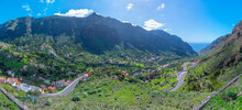Aerial View Of Valle Gran Rey Valley At La Gomera, Canary Islands, Spain.