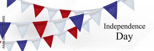 Foto 4th of July, American Independence Day celebration greeting card with bunting in