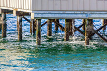 Pilings  And Water Streams