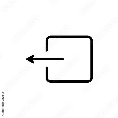 The exit icon. Logout and output, outlet, out symbol. Flat Vector illustration Wall mural