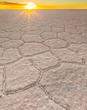 Salar De Uyuni Is The Largest Salt Flat In The World And Is In South West Bolivia.