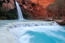 Havasu Falls Is Located On The Havasupai Indian Reservation Near Grand Canyon National Park, Arizona.