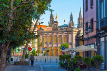 Plaza De La Constitucion At Arucas At Gran Canaria, Canary Islands, Spain