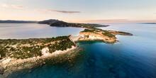 Gerakas Beach And Rocky Cliffs In Zakynthos