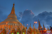 Shwedagon Pagoda, Located In Yangon, Is The Most Sacred Buddhist Pagoda In The Country Of Burma (Myanmar)