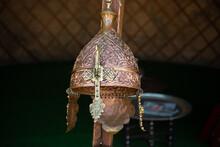 Decorative Metal  Helmets Of  Warriors Of Turkish Ottoman Time