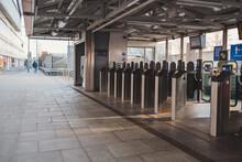 Empty Overground Station On Monday Evening, Transport For London During Coronavirus Lockdown