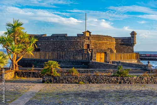 Canvas Castle of San Juan Bautista at Santa Cruz de Tenerife, Canary islands, Spain