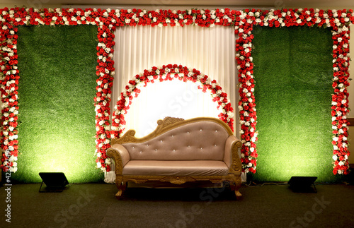 Leinwand Poster wedding stage decoration inside banquet hall