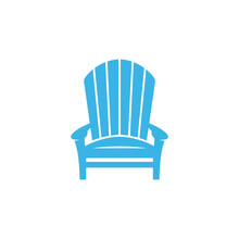 Adirondack Chair Vector In Blue