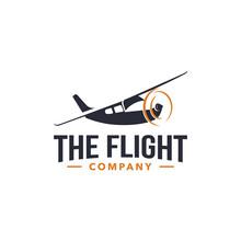 The Flight Company Logo Design Template Vector For Aviation Company