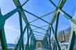 canvas print picture - Historische Fachwerkbrücke an der Ruhr bei Essen Steele