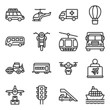 Pack Of Automobile Linear Icons